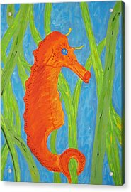 Seahorse Acrylic Print by Yshua The Painter