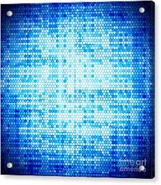 Seamless Honeycomb Pattern Acrylic Print by Setsiri Silapasuwanchai