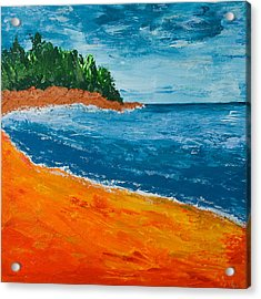 Seascape Acrylic Print by Judi Goodwin