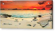 Seascape Panorama Acrylic Print by MotHaiBaPhoto Prints