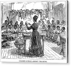 Segregated School, 1870 Acrylic Print by Granger