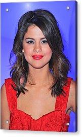 Selena Gomez At A Public Appearance Acrylic Print by Everett
