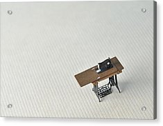 Sewing Machine Table Model Made ??of Paper Acrylic Print by Yagi Studio