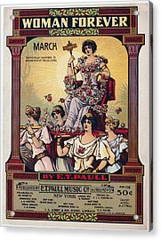 Sheet Music Cover, 1916 Acrylic Print by Granger