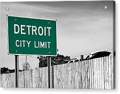 Sign Of The Times Acrylic Print by James Marvin Phelps