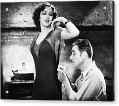Silent Film Still: Sewing Acrylic Print by Granger