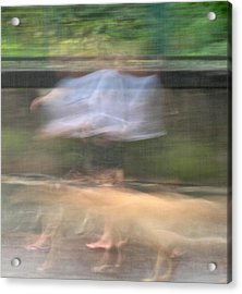 Singing In The Rain Acrylic Print by Richard Cummings