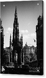 Sir Walter Scott Monument Princes Street Edinburgh Scotland Uk United Kingdom Acrylic Print by Joe Fox
