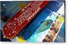 Skee Skate Acrylic Print by Ron Regalado