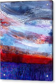 Acrylic Print featuring the mixed media Sunset Sky by Walter Fahmy