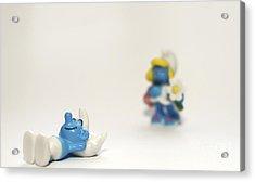 Smurf Figurines Acrylic Print by Amir Paz