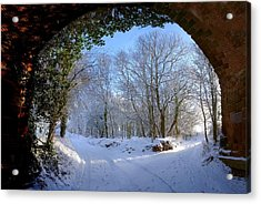 Snow Through The Bridge Acrylic Print