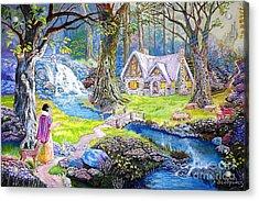 Snow White Acrylic Print by Kostas Dendrinos