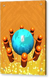 Social Networking, Conceptual Image Acrylic Print by Victor Habbick Visions