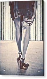 Sockings Acrylic Print by Joana Kruse
