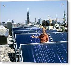 Solar Heat Collectors, Germany Acrylic Print by Martin Bond