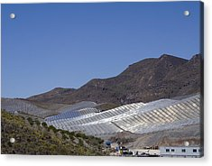 Solar Power Plant, Cala San Pedro, Spain Acrylic Print by Chris Knapton