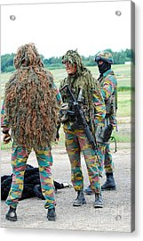 Soldiers Of The Special Forces Group Acrylic Print by Luc De Jaeger