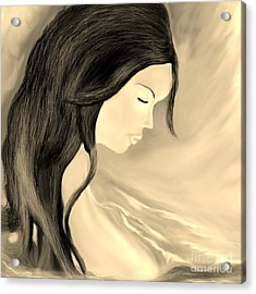 Acrylic Print featuring the drawing Solitude  by Lori  Lovetere