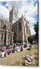 Southwark Cathedral Acrylic Print by Andrew  Michael