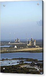 Space Shuttle Atlantis And Endeavour Acrylic Print by Stocktrek Images