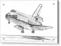 Space Shuttle Atlantis Acrylic Print by Tibi K