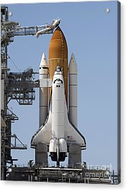 Space Shuttle Endeavour Sits Ready Acrylic Print by Stocktrek Images