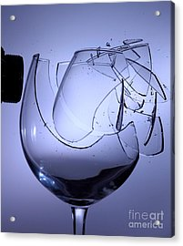 Speaker Breaking A Glass With Sound Acrylic Print by Ted Kinsman