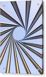 Spiral Metal Sculpture At Fermilab Acrylic Print by Mark Williamson