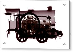Spring Train, X-ray Acrylic Print by Neal Grundy