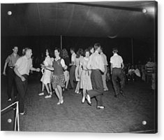 Square Dance Team Dancing Acrylic Print by Everett