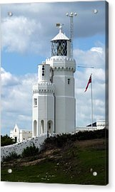 St. Catherine's Lighthouse Acrylic Print by Carla Parris