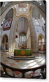 St Edmundsbury Cathedral Acrylic Print by Nicholas Burningham
