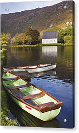 St. Finbarres Oratory And Rowing Boats Acrylic Print