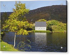 St. Finbarres Oratory On Shore Acrylic Print by Ken Welsh