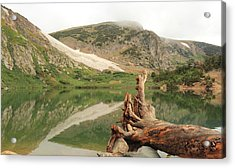 St. Mary's Lake And Glacier Acrylic Print by Scott Rackers