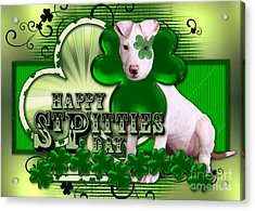 St Patricks - Happy St Pitties Day Acrylic Print by Renae Laughner