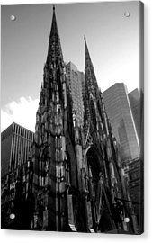 St. Patrick's Cathedral Acrylic Print by MikAn 'sArt