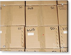 Stacks Of Boxes Acrylic Print by Shannon Fagan