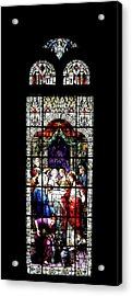 Stained Glass Window Acrylic Print by Rudy Umans