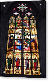 Stained Glass Window Acrylic Print by Suhas Tavkar