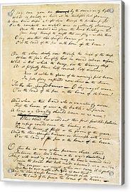 Star Spangled Banner 1814 Acrylic Print by Granger