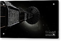 Starship Inspired By The Novels Acrylic Print by Rhys Taylor