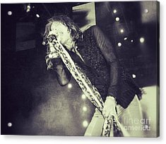 Steven Tyler In Concert Acrylic Print by Traci Cottingham