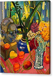 Still Life With Cut Glass Vase Acrylic Print