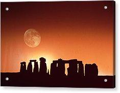 Stonehenge, England Acrylic Print by John Foxx