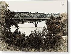 Strawberry Mansion Bridge From Laurel Hill Acrylic Print by Bill Cannon