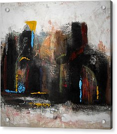 Street In Marrakech 2 Acrylic Print by Mohamed KHASSIF