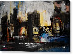 Street In Marrakech Acrylic Print by Mohamed KHASSIF