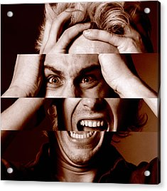 Stressed Man Acrylic Print by Victor De Schwanberg